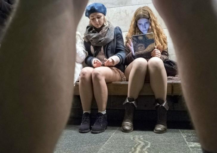 Día sin pantalones en el metro: fotos