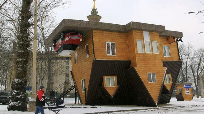 La increíble casa al revés de Moscú