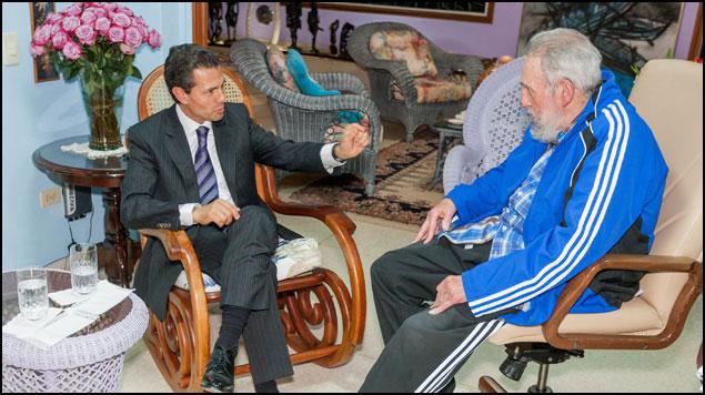 EPN: encuentro con Fidel Castro fue cordial y fraterno