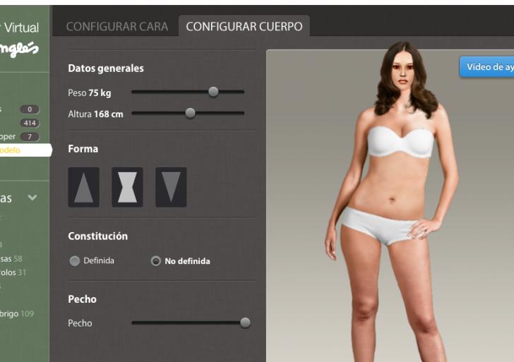 El maniquí virtual para comprar ropa en internet
