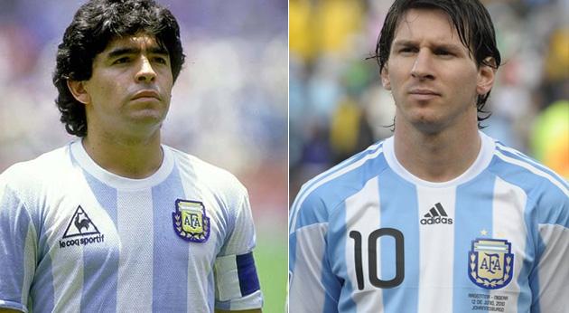 10 similitudes entre Messi y Maradona