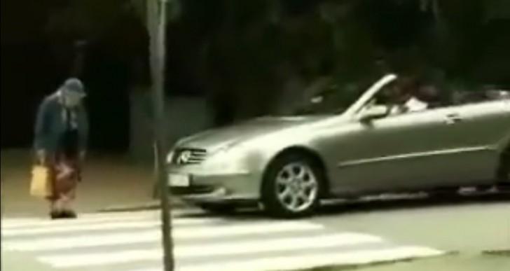 La abuela que venció a un impaciente conductor