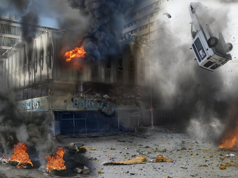 Proyecto art stico incendiario quemar los 20 mayores for Barclays oficinas madrid