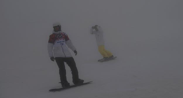 Niebla obliga a aplazar algunas pruebas en Sochi