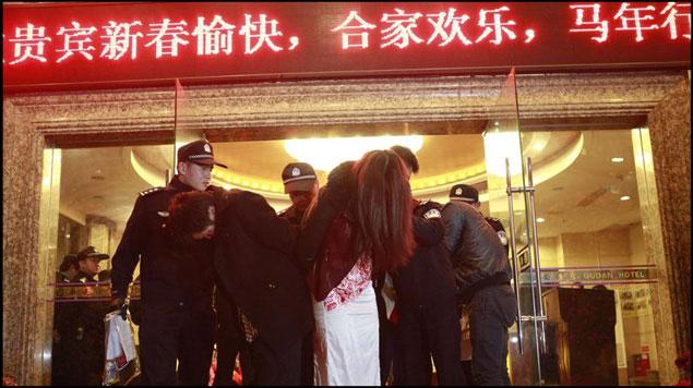 Redada contra prostitución en China
