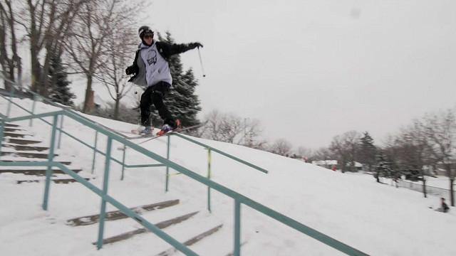 Los peligros del esquí urbano