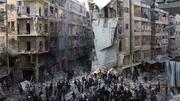 Bombardeos en Aleppo continúan dejando muertos