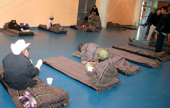 Guardan a indigentes en Reynosa por frío