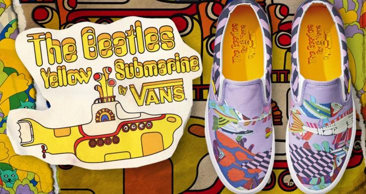 Mira los tenis inspirados en Yellow submarine de The Beatles