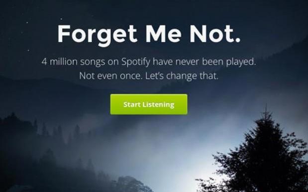 Forgotify, un sitio que rescata las canciones que nadie escuchó