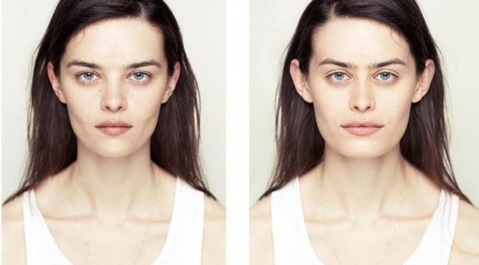 Así se verían nuestras caras si fueran simétricas