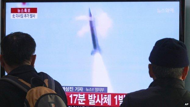 Un misil norcoreano pasó cerca de un avión chino