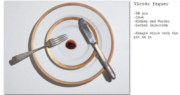 La última cena de 12 condenados a pena de muerte