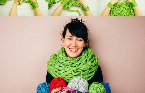 Haz una bufanda infinita en sólo 30 minutos