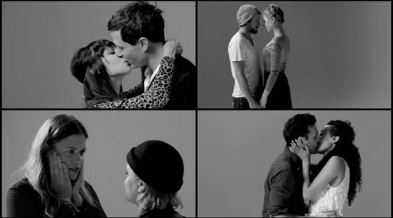 Así se besan dos extraños por primera vez