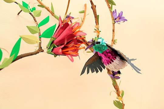 Esto no es origami: Pájaros de papel por Diana Herrera