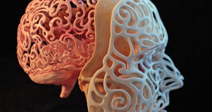 Autorretrato anatómico 3D por Joshua Harker