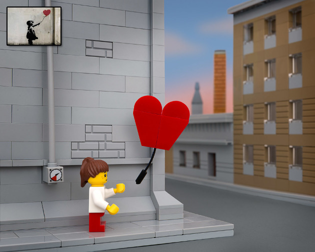 Famosas piezas de Banksy rehechas con Legos