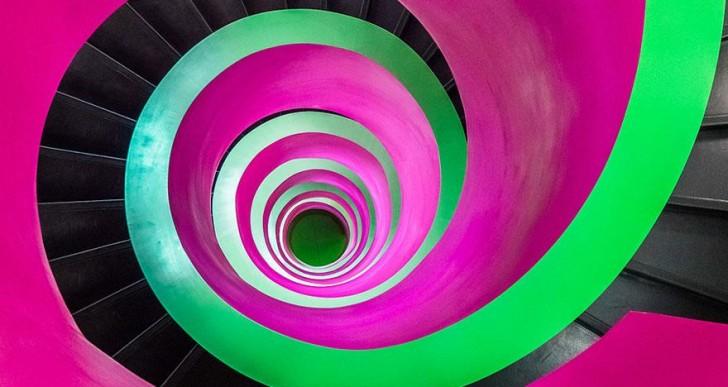 Fascinantes ejemplos de escaleras en espiral