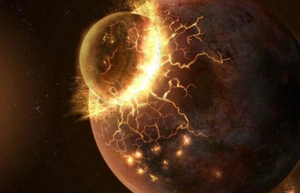 La Tierra y otro planeta fueron responsables por crear la Luna