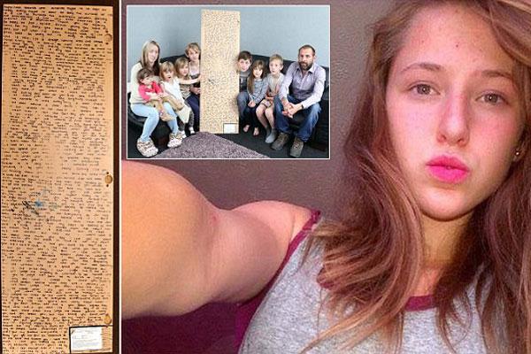 Familia encuentra mensaje secreto de su hija que murió de cáncer