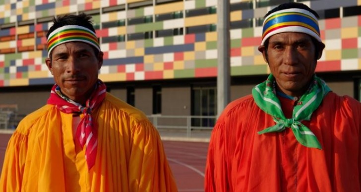 Tarahumaras, indígenas mexicanos, en el Trial Quixote Legend