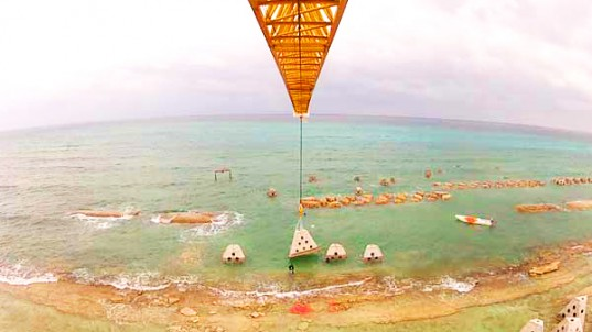 Construyen el arrecife artificial más largo del mundo