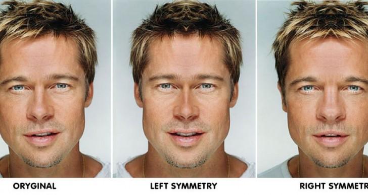 Estas caras editadas revelan las características de la simetría