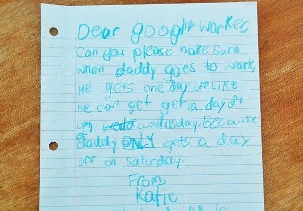 Niña pide vacaciones a Google para su padre