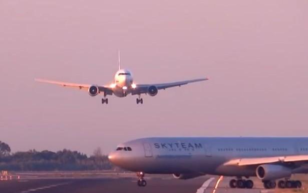 ¿Casi chocan estos aviones en el aeropuerto?