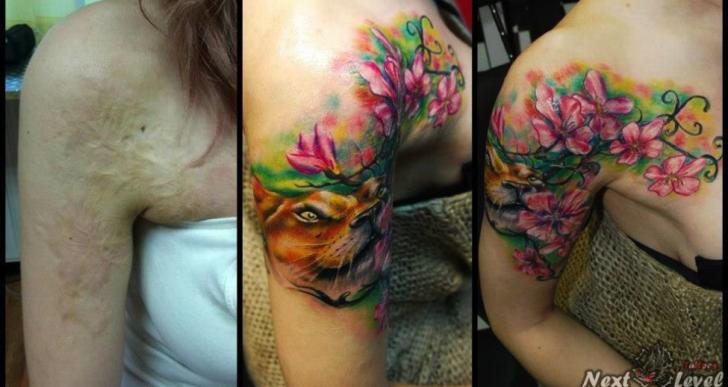 La magia de cubrir un tatuaje o una cicatriz con tinta