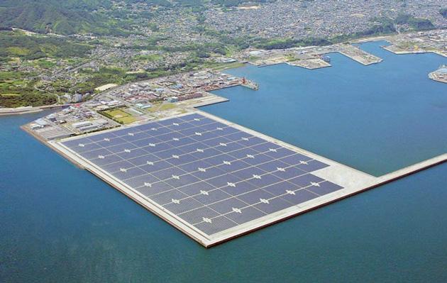 India planea construir la granja solar flotante más grande del mundo