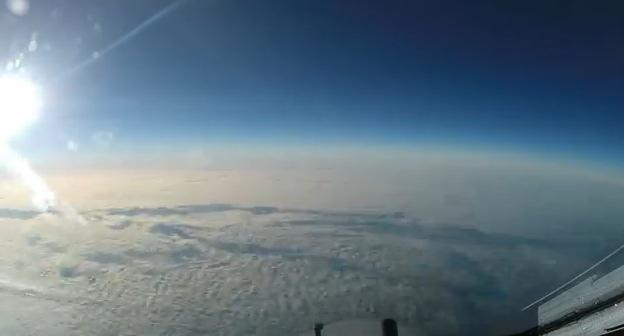 Timelapse desde la perspectiva de un piloto de un boeing 747