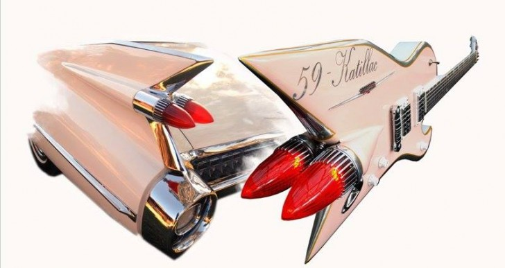 Guitarras vintage inspiradas en autos clásicos de los 50's