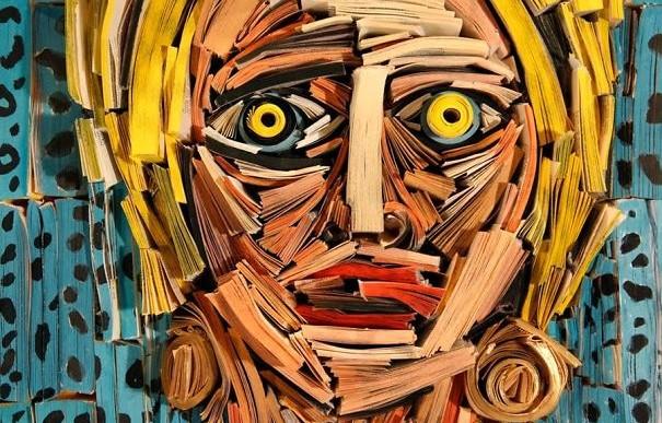 El arte de esculpir con libros por Nick Georgiou