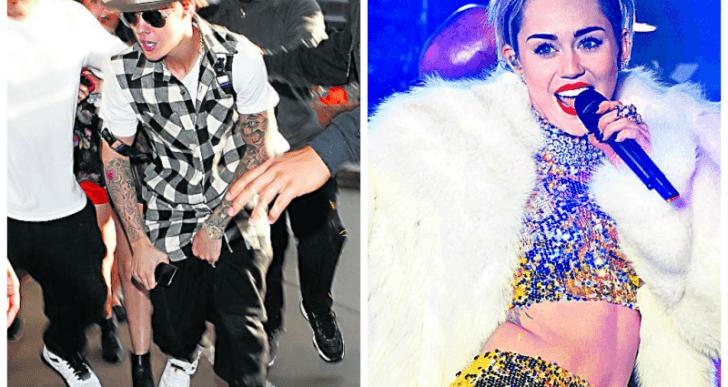 Destruyen con una explosión discos de Bieber y Cyrus
