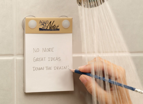 ¿Por qué olvidas las buenas ideas que se te ocurrieron en el baño?