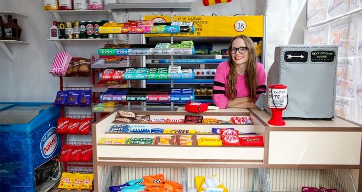 Cornershop, una tienda en Londres llena con productos en su versión de fieltro