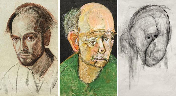 Dibujóautorretratos durante 5 años hasta que pudo recordar su cara