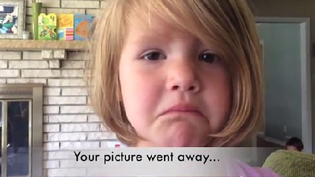 Borró sin querer una foto y así reaccionó esta pequeña de 4 años