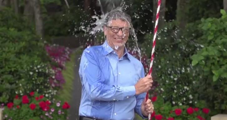 Bill Gates también se empapó con agua helada