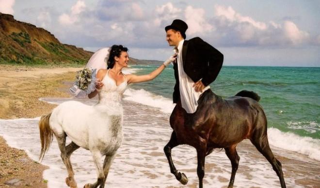 ¿Qué estarían pensando estos rusos al tomar sus fotos de boda?