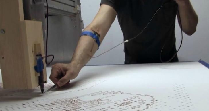 Esta máquina usa sangre humana para pintar