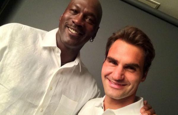 Michael Jordan echa porras tras victoria de Federer