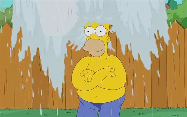 Homero Simpson se une al Ice Bucket Challenge