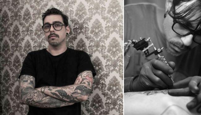 Los tatuajes con sofisticada simetría de Chaim Machlev