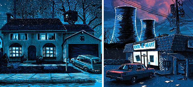 Desolada y tenebrosa, así reimagina este ilustrador a Springfield de Los Simpson