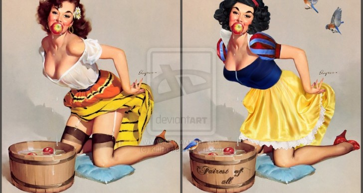Artista transforma a las princesas de Disney en versiones pin-up
