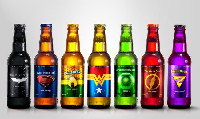 Seguro te gustaría probar una cerveza de La Liga de la Justicia