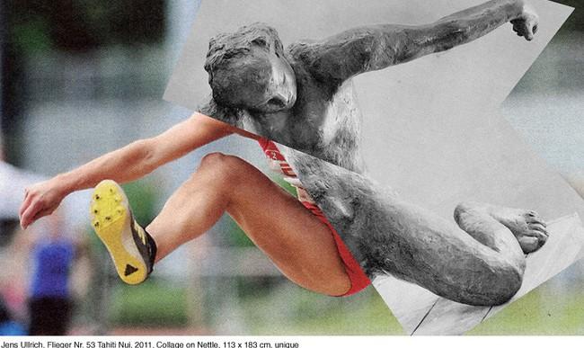 Deportes contemporáneos y esculturas clásicas unidos en los collages de Jens Ullrich